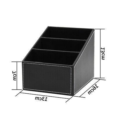 Desk Holder Storage PU Leather