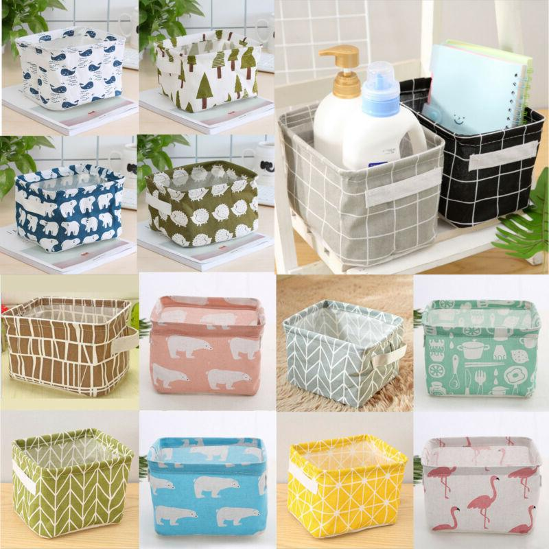 desk sundries book storage boxes geometric printed