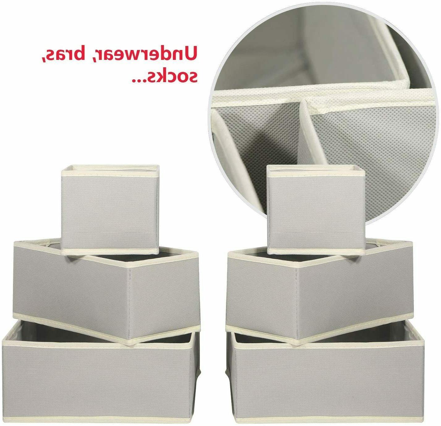 DIOMMELL Pack Foldable Cloth Box Closet Dresser Drawer Organizer