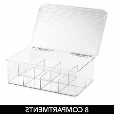 mDesign Divided Aid Kit Box Cabinet,