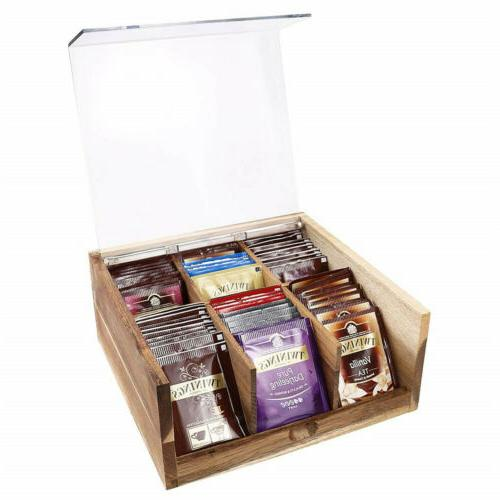 Divided Tea Box Organizer Sugar Decor 6