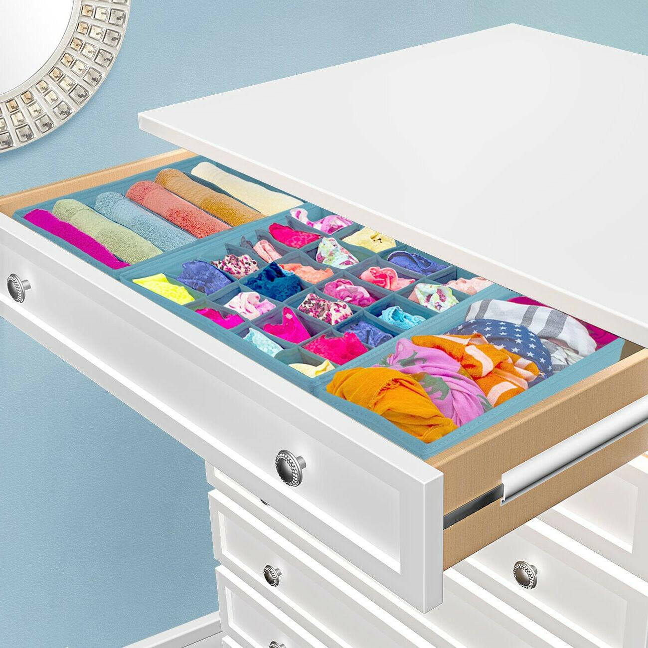 Drawer Storage Closet Clothes Organizer Bin 4-Piece