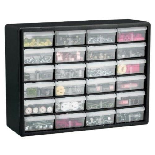 Akro-Mils Plastic Parts Storage and x Black