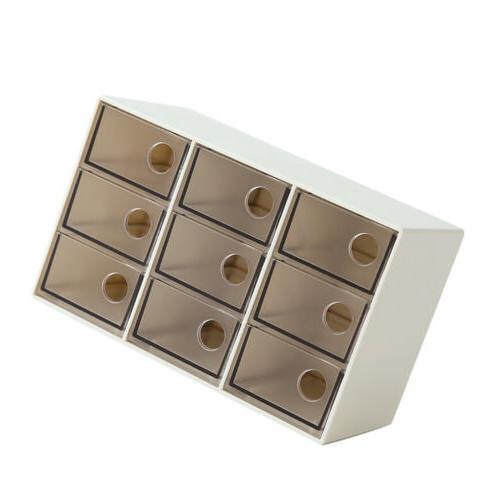 Drawer Box Desktop Organizer Brown