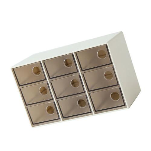 Drawer Organizer Portable Supplies Brown Grid