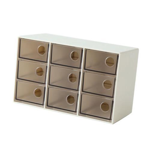 Drawer Storage Organizer Portable Office Brown