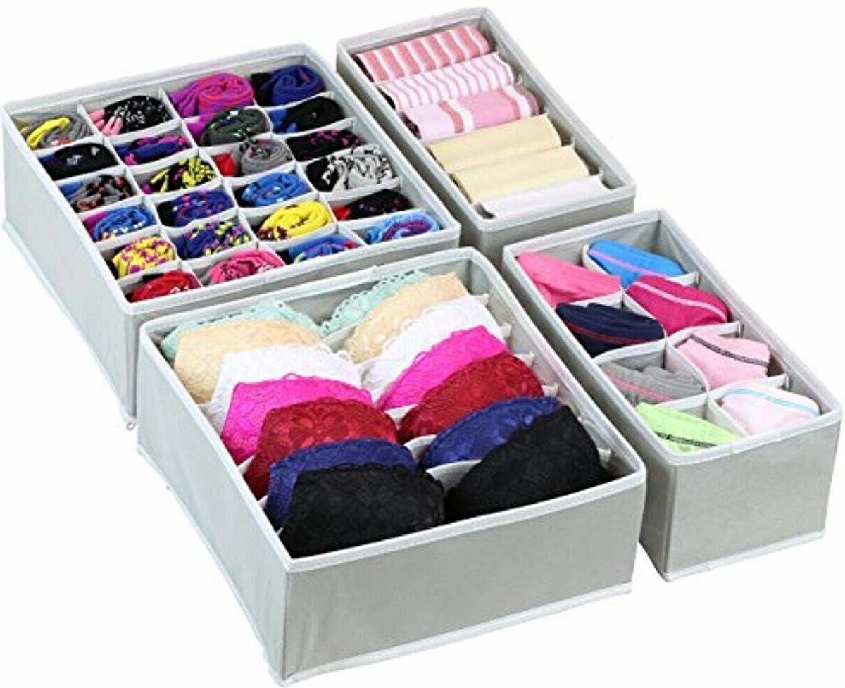 drawer storage organizer underwear closet divider foldable