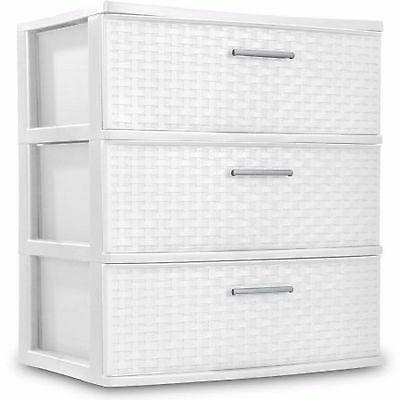 Sterilite Dresser Storage Plastic Clothes Organizer Cabinet