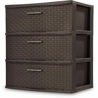 Sterilite Dresser Cart Organizer Cabinet 3 Drawer Box