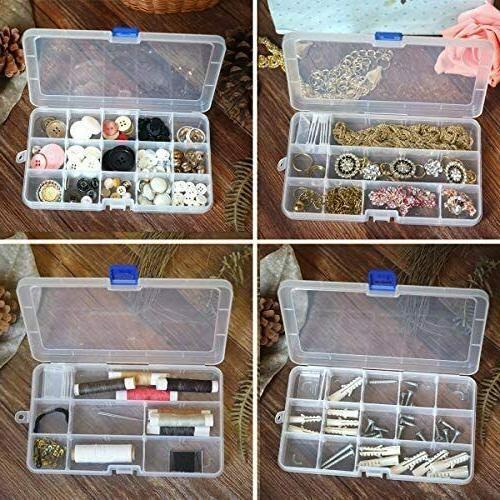 DUOFIRE Plastic Storage Box Adjustable Divider Removable