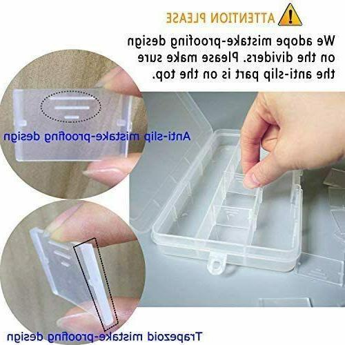 DUOFIRE Plastic Organizer Storage Adjustable Divider Removable