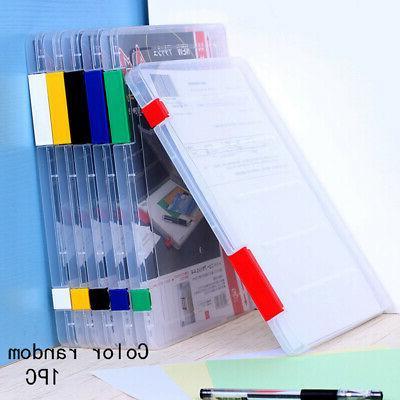 Durable Storage Box Plastic Document School/Office Supplies Tranparent