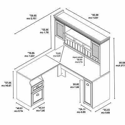 Durable L Desk Antique 60W 60D Drawer