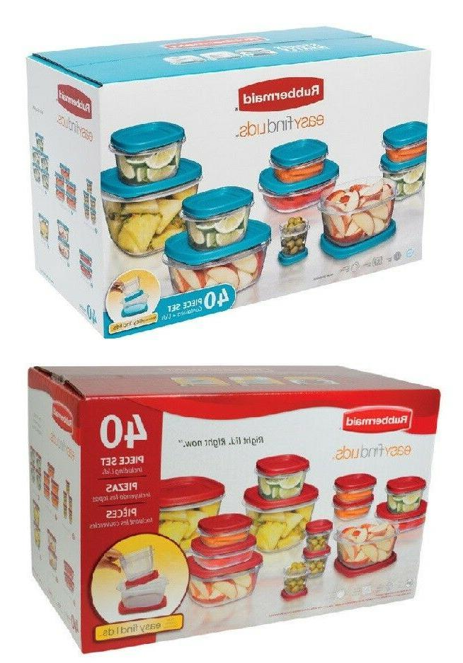 easy find lids storage container set clear