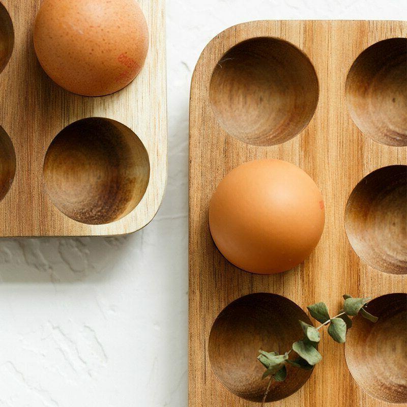 Egg Wooden Home Organizer Rack Holder