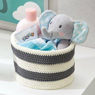 ellis hand knit round bin