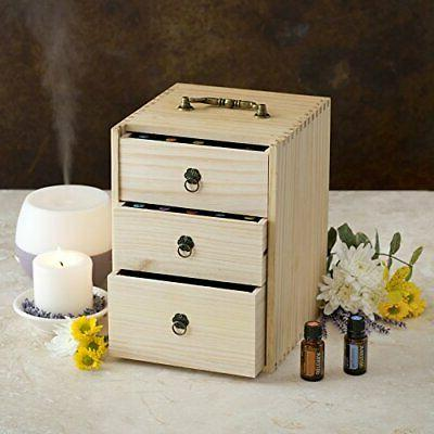 Essential Oil Box - Wooden With & Roller