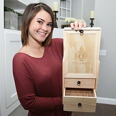 Essential Wooden Storage Case Handle. & Roller