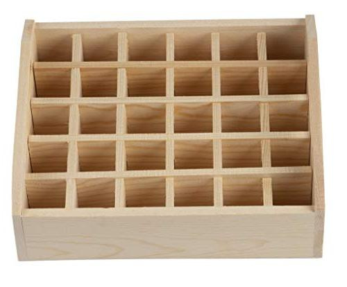 Essential - Wood Essential Oils Oil Storage Case, Oil Storage Tray, for Holds x 7.125 Inches