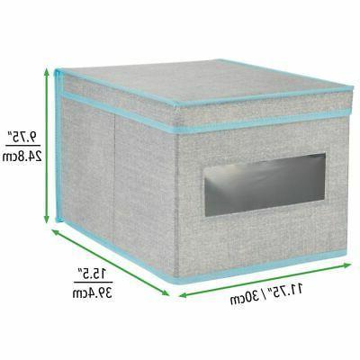 mDesign Fabric Organizer Box,