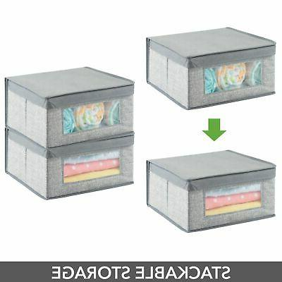 mDesign Fabric Organizer Box