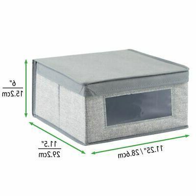 mDesign Fabric Closet Storage Organizer Box -