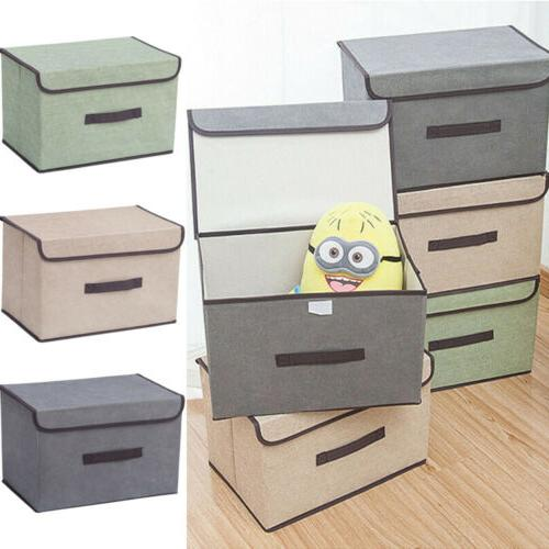 Fabric Box Bin Lid Foldable