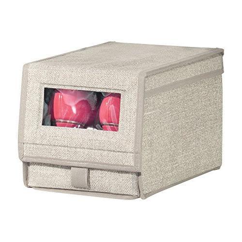 mDesign Home Storage Box Window, Hinged Women's Boots, Pumps, Flats Modern Organizer Solution - -