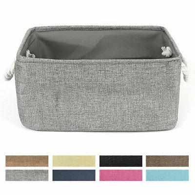 fabric storage bin basket with rope handles
