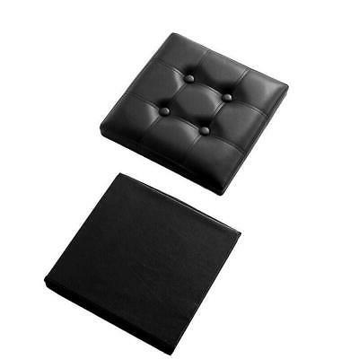 Faux Leather Square Footstool Folding Box