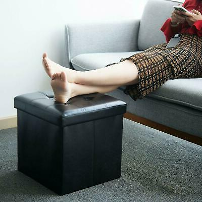 Faux Ottoman Square Footstool Footrest Box