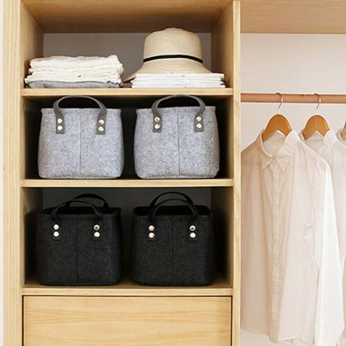 Felt Box Closet Toy Laundry Organizer