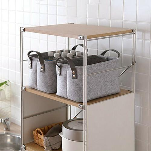 Felt Box Basket Closet Toy Laundry Shelf Organizer