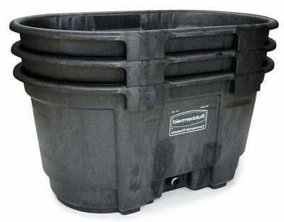 RUBBERMAID Stock Tank, L W 100 gal., Black