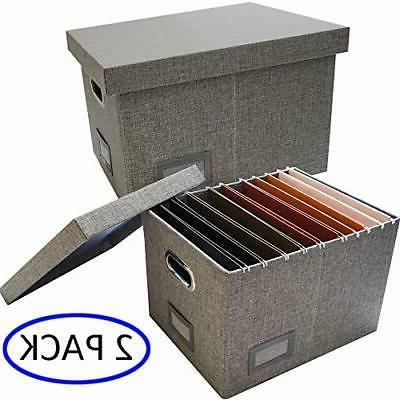 file storage organizer box 2 pcs collapsible
