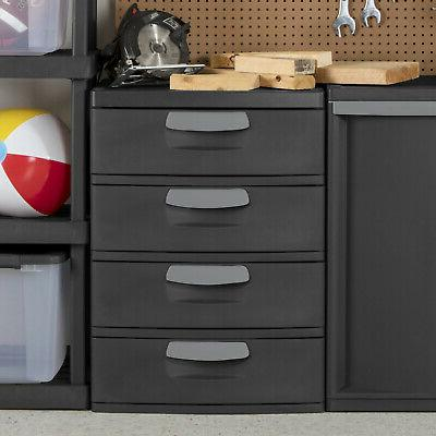 Flat Drawer Unit Heavy-Duty Plastic