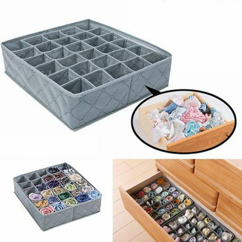foldable bamboo charcoal underwear socks drawer organizer