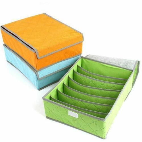 Foldable Drawer Divider Storage Box Underwear Sock USA