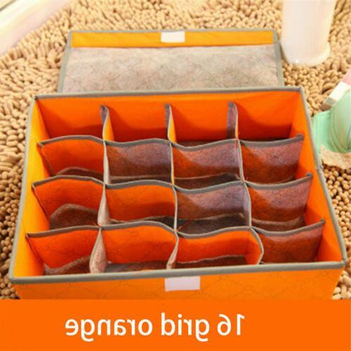Foldable Closet Drawer Divider Storage Box For Underwear