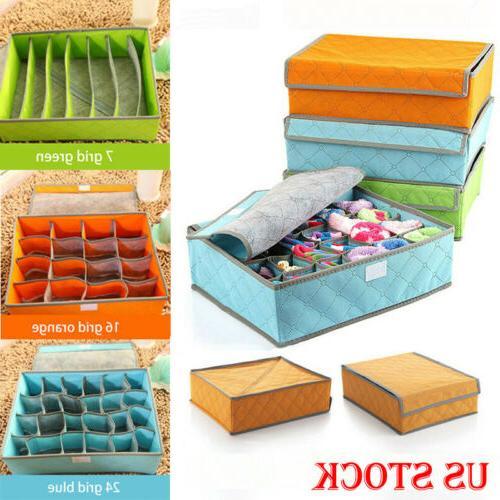foldable closet drawer organizer divider storage box