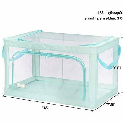 Foldable Closet Storage Bins Boxes, Stackable Container Organizer Basket