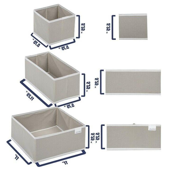 Foldable Dresser Drawer Organizer Drawer Box