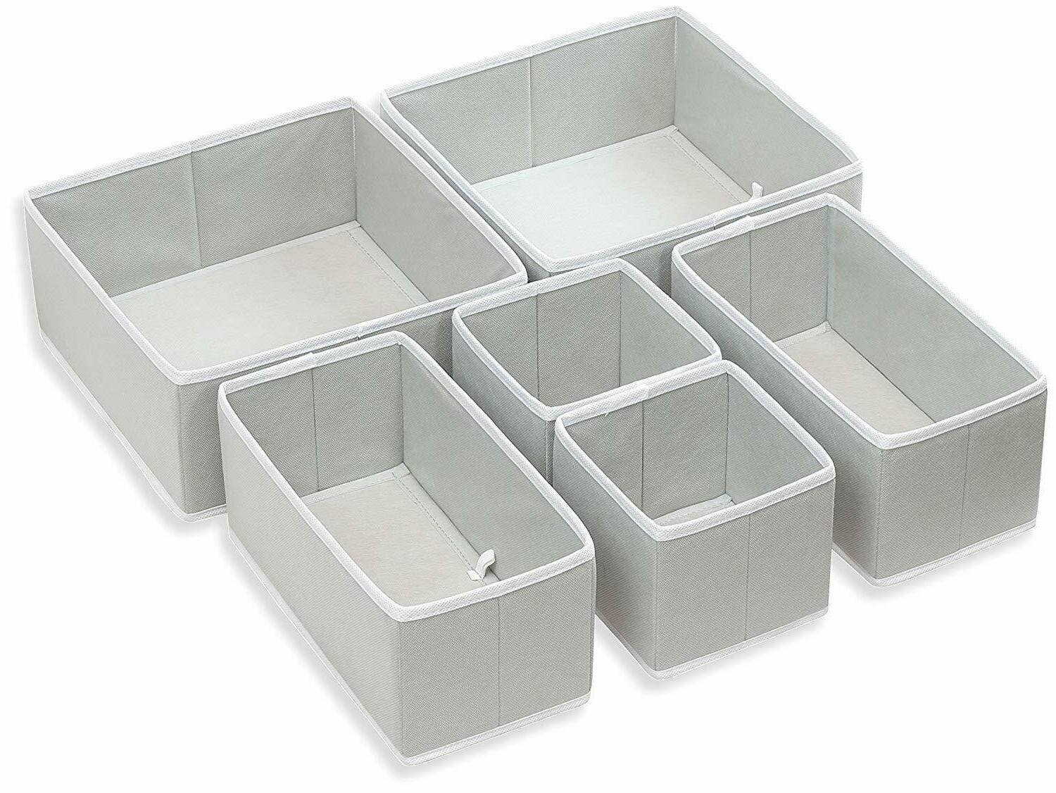 Foldable Closet Drawer Organizer Bins