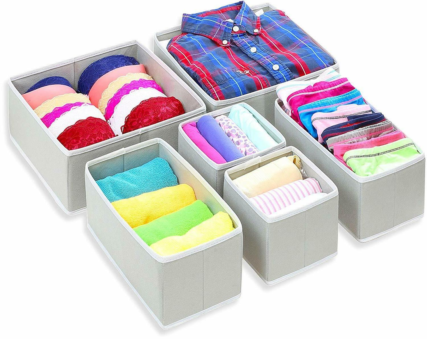 foldable cloth storage box closet dresser drawer