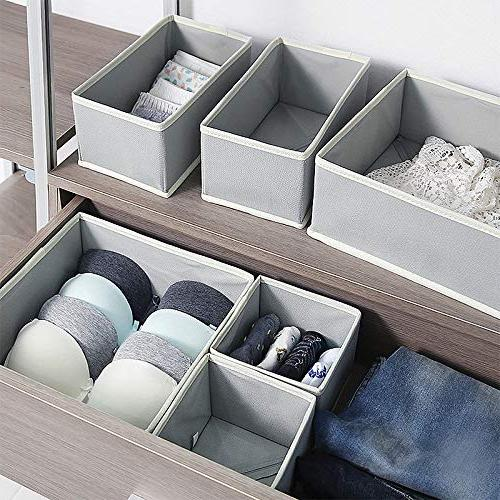 KIMIANDY Foldable Storage Box Dresser Organizer Baskets Containers for Clothes, Underwear, Socks, Lingerie, of