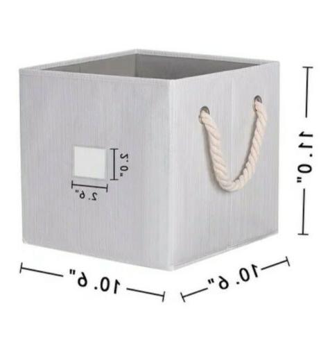foldable collapsible storage cube box basket bin