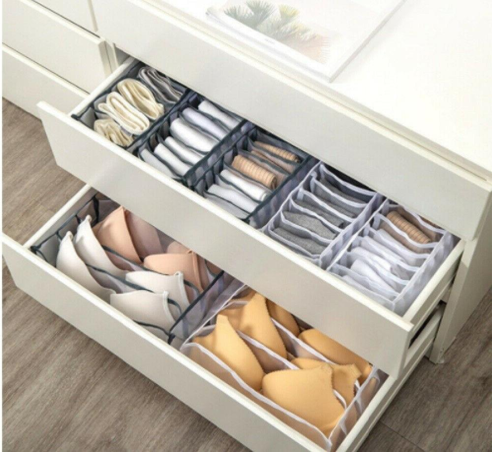Foldable Organizer Divider Closet Box Underwear Bra