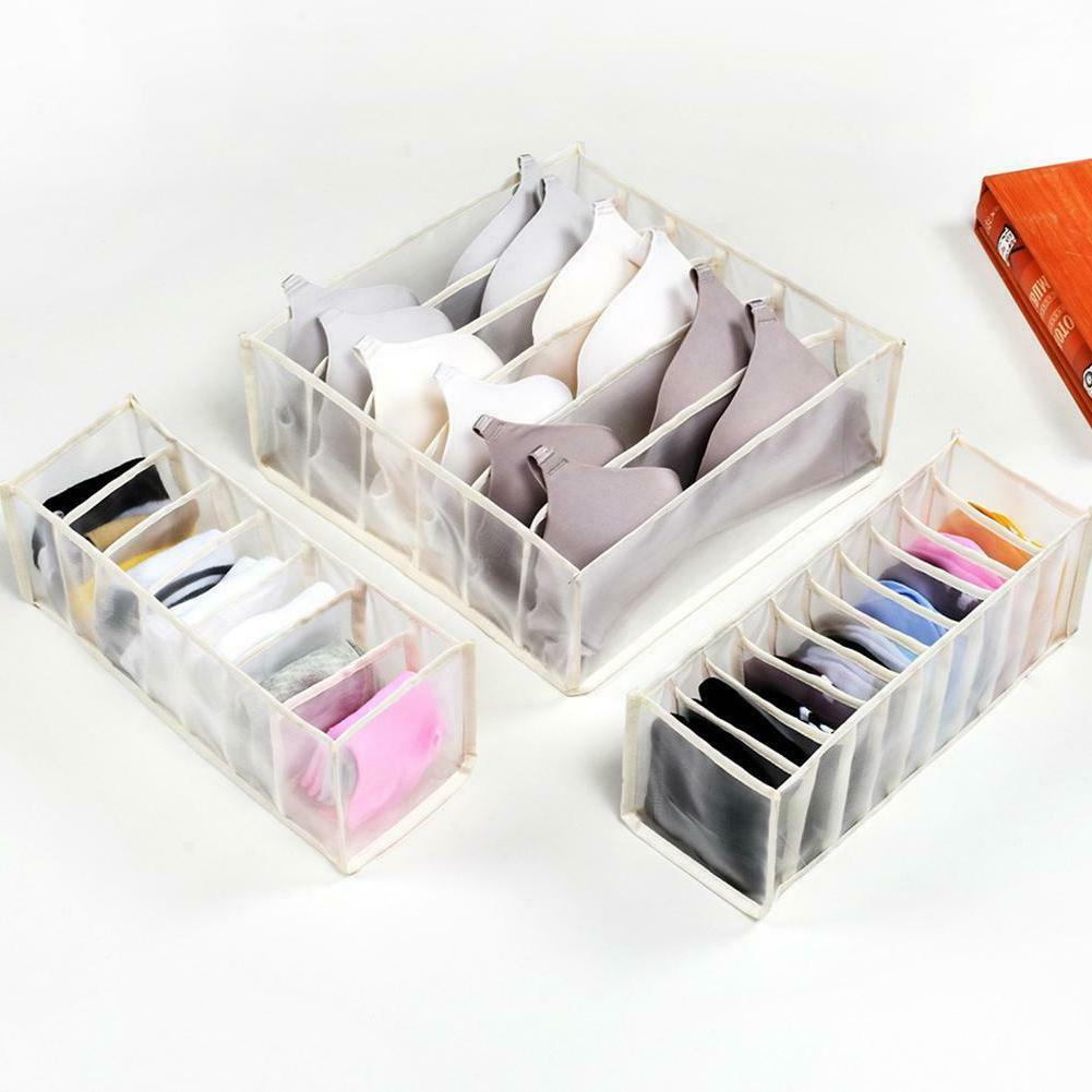 Foldable Organizer Closet Storage Box Underwear Bra S