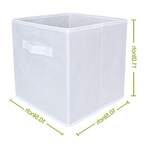 Set of Foldable Fabric Basket Collapsible Nursery