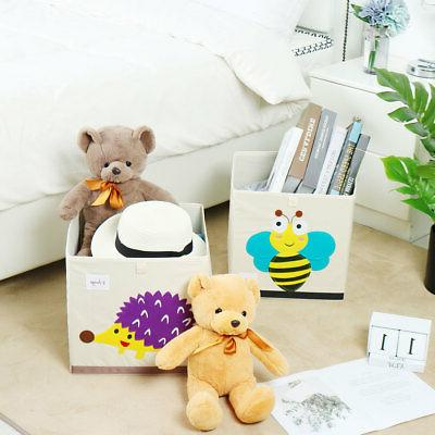 Foldable Cartoon Bins Box Baskets for Closet Shelves